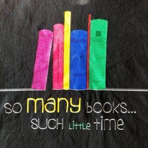 Bookworm Short sleeve black T-shirt - size large